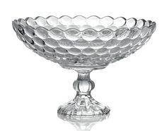 For sale: 21 spectacular Fifth Avenue crystal pedestal bowls. Half these are new, half are almost new. All are in original boxes. These beauties have never had water or flowers in them. Measurements: 8 inches high and 12 inches wide. Easy to see over and talk to guests. $28.00 each plus actual shipping.