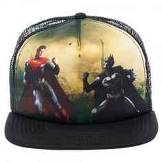 DC Comics Injustice Batman Vs. Superman Full Print Trucker Baseball Cap Hat