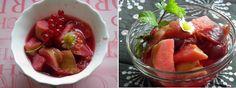 Birskompót piros gyümölcsökkel
