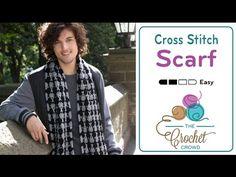 Crochet Cross-Stitch Scarf + Tutorial - The Crochet Crowd
