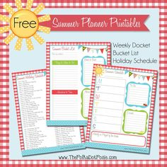 The Polka Dot Posie: Get Organized for Summer with These Fun FREE Printables! The Polka Dot Posie: Get Organized for Summer with These Fun FREE Printables! Small Planner, Kids Planner, Free Planner, Planner Ideas, Free Summer, Summer Kids, 2017 Summer, Printable Planner Pages, Free Printables