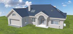 Projekt domu Willa Parkowa 4 165,77 m2 - koszt budowy - EXTRADOM Beautiful House Plans, Beautiful Homes, Home Fashion, Bungalow, Houses, House Design, Mansions, Architecture, House Styles