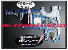 Replacement for HP 647626-001 Laptop Motherboard