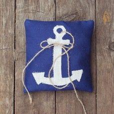"""Подушечка для колец на свадьбу """"Морская"""" можно купить у нас в магазине  #wedding #sea #подушечкадляколец #свадьба #handmade"""