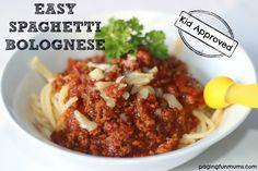 This Easy Spaghetti Bolognese Recipe has become a family favourite in our house with many friends asking for the recipe!