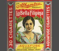 Vintage cigarette packaging #Philippines