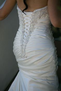 lace corset wedding dress this is EXACTLY what I am dreaming of!!!!!!!