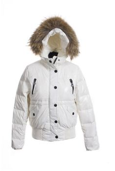 05196dd108cf Moncler Classic Women Down Jacket Single-Breasted Slim White! Only   239.9USD Cheap Coats