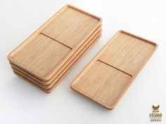 ISSHO コースタートレイ (C) KUM & FQ DESIGN/OKUDA Serving Tray Wood, Wood Tray, Serving Board, Cnc Wood, Concrete Wood, Wooden Plates, Wooden Boxes, Okuda, Woodworking Techniques