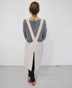 handmade cross back linen aprons www.trovefoods.co.uk/shop