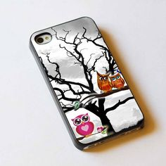 owl three love For Apple Phone, IPhone 4/4S Case, IPhone 5 Case, Cover Plastic
