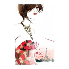 Fashion Illustration,Fashion illustration print,Fashion wall... ❤ liked on Polyvore featuring home, home decor and wall art
