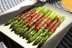 Roasted Prosciutto-Wrapped Asparagus.  Amazing