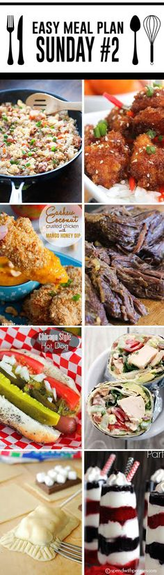 Easy Meal Plan Sunday #2 - 6 dinners and 2 desserts from your favorite food bloggers! http://www.highheelsandgrills.com/easy-meal-plan-sunday-2/ 