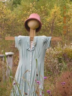 Scarecrow, to keep al those lovely birts out of my garden :)