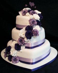 Kuchen Ideen :) Heart shaped wedding cakes - # Is It Really Teak Wood? 3 Teir Wedding Cake, Purple Wedding Cakes, Amazing Wedding Cakes, Wedding Cake Designs, Wedding Cupcakes, Wedding Ideas, Amazing Cakes, Wedding Events, Heart Shaped Wedding Cakes