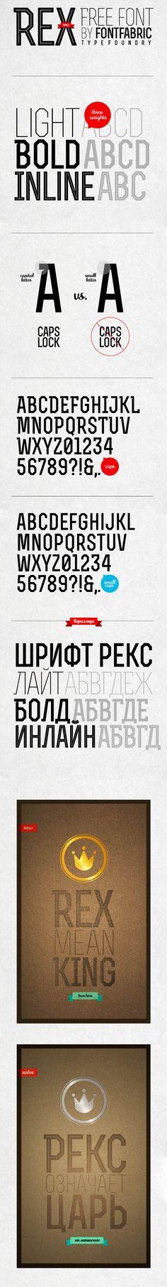 Free Font Download – Rex