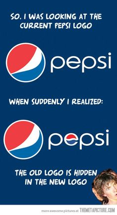 I was looking at the Pepsi logo…