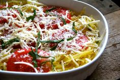 Tomato Basil Spaghetti Squash Bake - Alaska from ScratchAlaska from Scratch