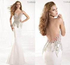 Sexy Sheer Tarik Ediz Evening Dresses Formal 2016 Gowns Illusion Crystals Rhinestone Backless Mermaid Pageant Long Party Prom Dresses Online with $115.3/Piece on Hjklp88's Store