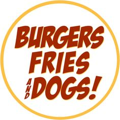 Burgers Fries Dogs Food Wall Decal | Diner Wall Decor | RetroPlanet.com