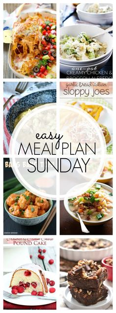 Here are our recipes for Easy Meal Plan Sunday #75. Lots of great recipes this week!