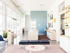 Clinical environments are out. Warm, Scandinavian spaces are in.