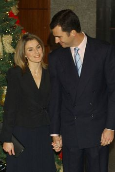 Spanish Royals Attend a Gala to Celebrate the 25th Anniversary of Spain's Constitution. Crown Prince Felipe and Fiancee Letizia Ortiz Rocasolano. December 06, 2003