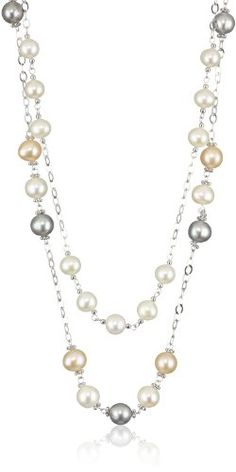 Bella Pearl Tin Cup Necklace