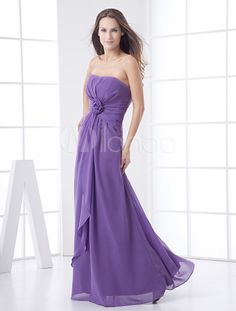 Vestido de damas de honor de color lavanda - Milanoo.com