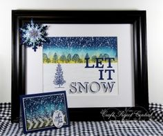 Let It Snow Decor! www.craftprojectcentral.com Decorate for winter with this lovely Let it Snow frame complete with snowflake. There is even a card so you can gift this set to someone who is wishing for snow. Although it looks complicated it's easier than it looks to make.  Also makes for a fun holiday crafting class!