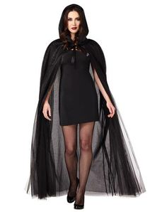 Black Ghost Cape Adult Womens Costume  sc 1 st  Pinterest & 872 best Halloween Costumes/Accessories images on Pinterest ...