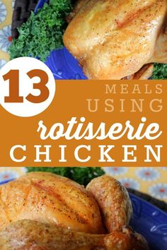 13 Simple Meals Using Rotisserie Chicken -- Whether you buy a ready-made chicken at the grocery store or Costco or make your own at home, here are a ton of simple recipes that you can whip up in no ti(Rotisserie Chicken Dishes) Costco Rotisserie Chicken Recipe, Recipe Using Chicken, Homemade Chicken Stock, Roast Chicken Recipes, Recipes For Leftover Chicken, Leftovers Recipes, Healthy Dinner Recipes, Cooking Recipes, Sweets