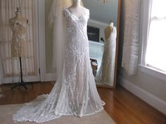 Art Deco Ivory lace Wedding Gown One of a kind Boho Wedding Dress, Wedding Gowns, Our Wedding, Lace Wedding, Hippie Bride, The Blushed Nudes, Vintage Gowns, Unique Weddings, Getting Married