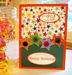 Children's Birthday Card, Happy Birthday Stars by ACardOccasion on Etsy