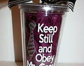 50 shades of Grey Tumbler. $12.00, via Etsy.