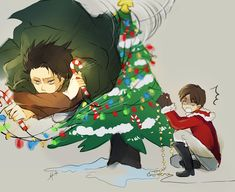 SNK- Happy Holidays! by hai-do.deviantart.com on @deviantART