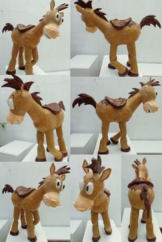 Toy Story Tiro al blanco, piñata, Birthday Party Bullseye Toy Story Birthday, Toy Story Party, Diy Projects To Try, Paper Dolls, Dinosaur Stuffed Animal, Birthday Parties, David, Cupcakes, Horses
