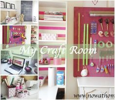 "Hello everyone, I am glad you are reading another one of my ""craft room status update"" posts. If you read my last update, you know I promised to post about my latest DIY projects made specifically for my new craft room. All these projects were . Sewing Room Storage, Sewing Room Organization, My Sewing Room, Craft Room Storage, Sewing Rooms, Storage Ideas, Sewing Spaces, Organizing Ideas, Cute Diy Room Decor"