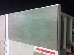 Large Format tile - light colour metallic streak through tile
