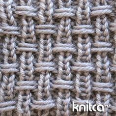 Right side of knitting stitch pattern – Slip Stitch 14 : www.knitca.com  Nice on wrong side too