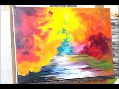 Sample video lesson from Leonid Afremov for his palette knife style with commentaries in Russian - subtitled YouTube