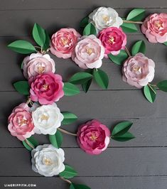 DIY Paper Camellia Flowers by lia griffith | Project | Papercraft / Decorative | Weddings | Kollabora
