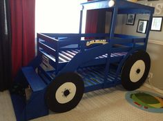 Grandad...... Materials: Mydal bunk bedDescription: My almost 4 year old is crazy about tractors...New Holland ones, to be precise.  The only thing he wished for for his upco