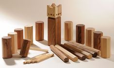 Kubb! Swedish lawn game. Maybe we can find some time to play at McCarren Park? =)