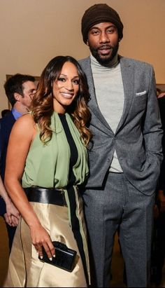 Amare and Alexis Stoudemire CFDA Fashion Fund Finalists dinner