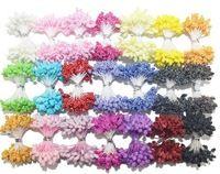 90PCS/lot wholesale Multicolor DIY Foam flower 5mm stamen cake decoration and DIY pistil stamen