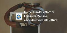 Curriculum del lettore della speaker radiofonica Emanuela Maisano