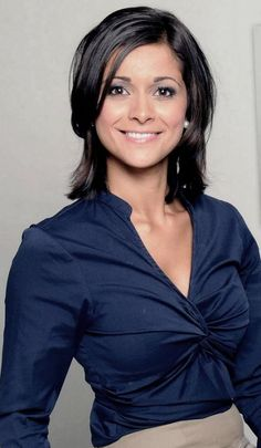 Lucy Verasamy. ITV weather presenter.