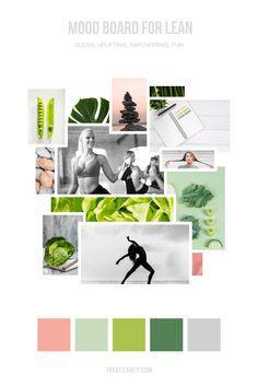 Mood board for a wellness brand offering nutrition and yoga. Branding Portfolio, Portfolio Design, Instagram Design, Instagram Feed, Site Internet, Business Card Logo, Graphic Design, Web Design, Green And Grey